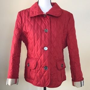 🎉HP🎉Burberry Red Diamond Quilted Jacket